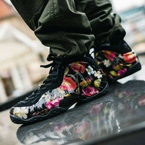 🆕Nike Air Foamposite One Floral Black Rose Gold